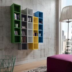 Libreria da parete multicolor modulare Eloise