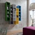 Libreria da parete multicolor Eloise