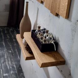 Coppia mensole da parete in legno massello Elias