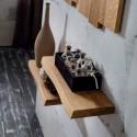Coppia mensole da parete in legno Elias