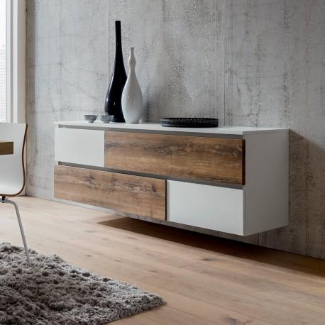 Madia sospesa design moderno in legno Mikko