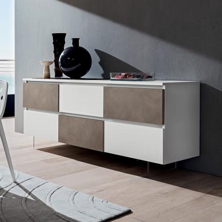 Madia moderna per soggiorno cucina in legno Osmo