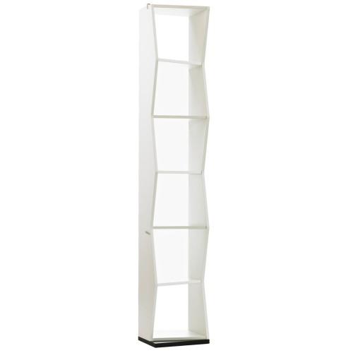 Libreria da terra Birinni Uthesign a colonna in legno Bianco Nero