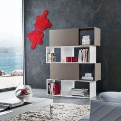 Libreria componibile con ante bifacciale design moderno Gabriel