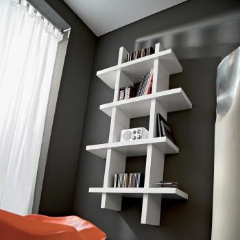 Raccoglitore porta CD e DVD da parete in legno Gilmar