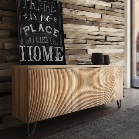 Madia in legno massello moderna per soggiorno cucina Annar