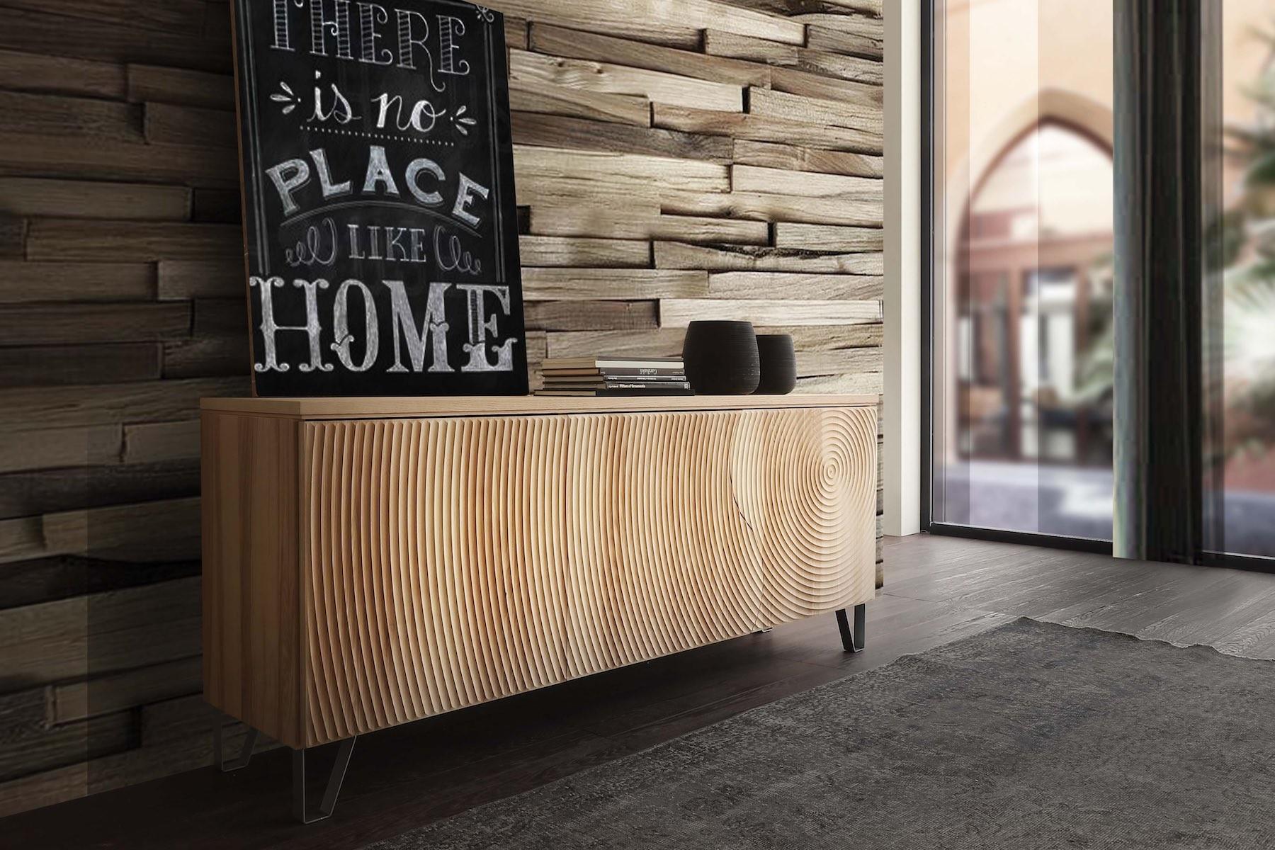 Credenza Moderna Legno Massello : Madia in legno massello moderna annar