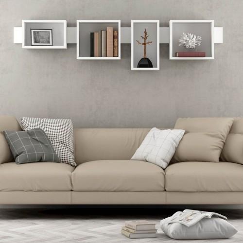 Mensola moderna sopra divano bianca Francis