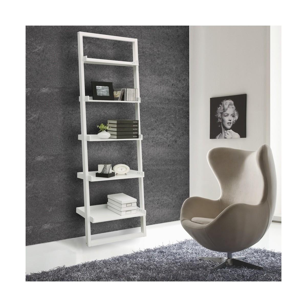Libreria a parete in legno con mensole moderne di do - Parete con mensole ...