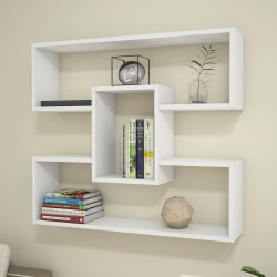 Libreria a muro moderna bianca 90 cm per cameretta Darcy