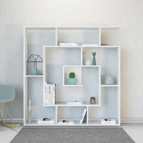 Libreria a giorno design in legno 125 x 125 cm Knosso