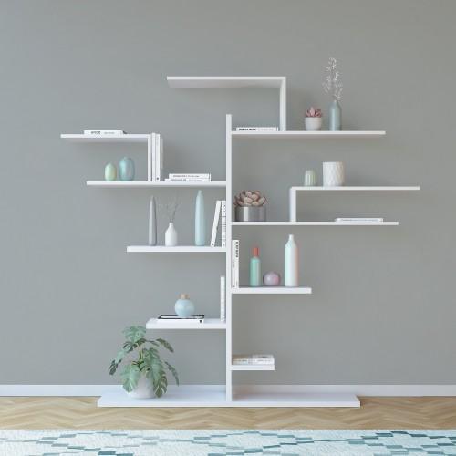Libreria da muro a forma di albero in legno melaminico Laurel