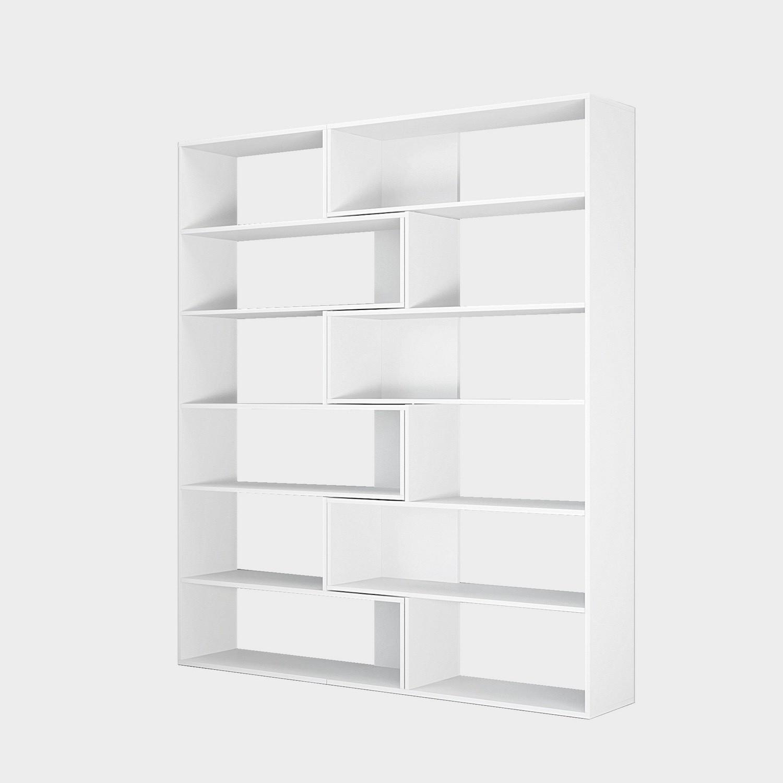 Libreria Angolare Moderna.Libreria Angolare Design Moderno In Legno Bianco Foldy