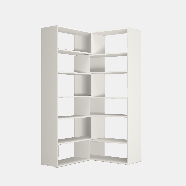 Libreria Angolare.Libreria Angolare Design Moderno In Legno Bianco Foldy