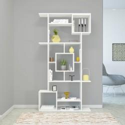 Libreria a giorno design moderno in legno bianco o naturale Julieta