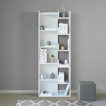 Libreria design in legno per soggiorno o camera da letto Corinna