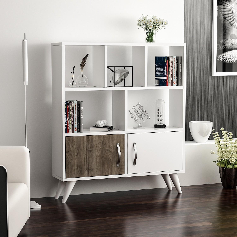 Credenza moderna bianca per cucina o soggiorno Jordan