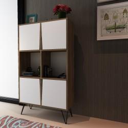 Credenza moderna design in legno mobiletto dispensa per cucina Kendal