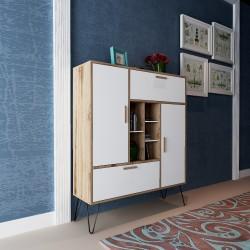 Mobiletto dispensa per cucina in legno design moderno Rupert