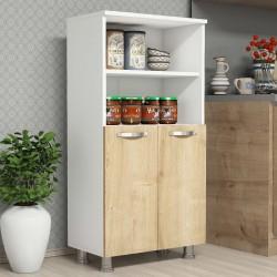 Mobile dispensa cucina in legno bianco/quercia Ferrand