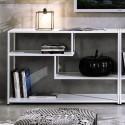 Libreria moderna Effreu White in metallo e legno
