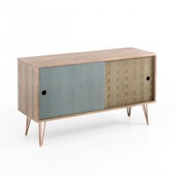 Madia design per soggiorno in legno di abete Rittenus