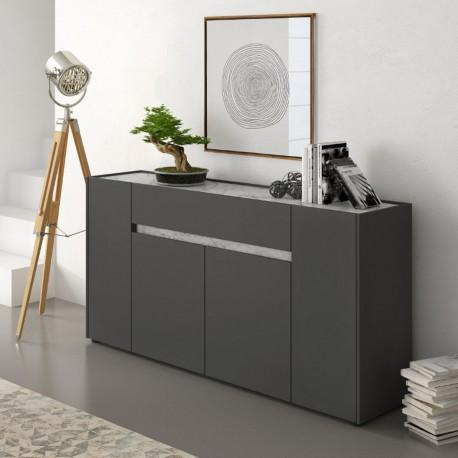 Madia moderna per soggiorno o cucina Diside grigio