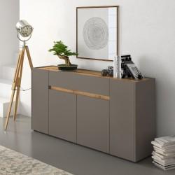 Madia soggiorno design moderno Diside tortora