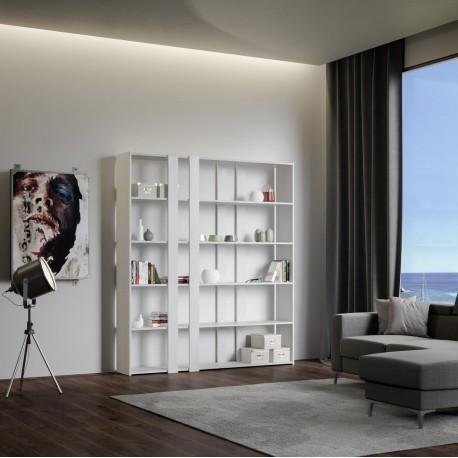 Libreria autoportante per salotti Inedditah A finitura BIANCO FRASSINO