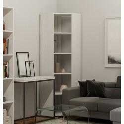 Libreria moderna in legno Inedditah Angolo A finitura bianco frassino