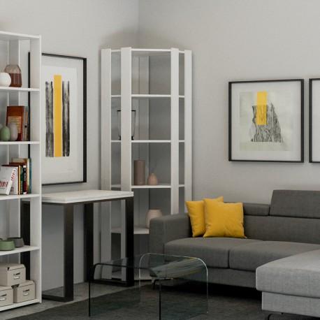 Libreria ad angolo design Inedditah Angolo B finitura BIANCO FRASSINO