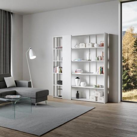 Libreria moderna per salotto di design Inedditah D finitura BIANCO FRASSINO