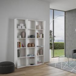 Libreria moderna a parete in legno Deducha 3 finitura BIANCO FRASSINO