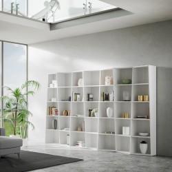 Libreria di design per arredamento moderno Deducha 7 finitura BIANCO FRASSINO