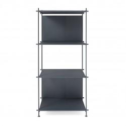 Libreria in acciaio design per studio professionale Musa
