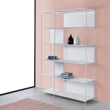 Libreria a giorno in metallo per ufficio e casa Musa