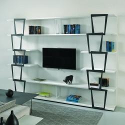 Libreria design moderno per salotto Trapezio B