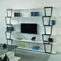 Libreria scaffale autoportante per TV Trapezio