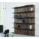 Libreria design moderno in legno Trapezio