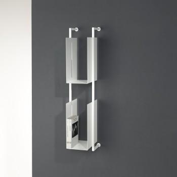Libreria verticale da parete sospesa in metallo Libra 94-16-2