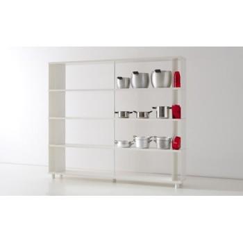 Scaffale libreria divisoria P-A4 in legno melaminico 200x30x170 cm