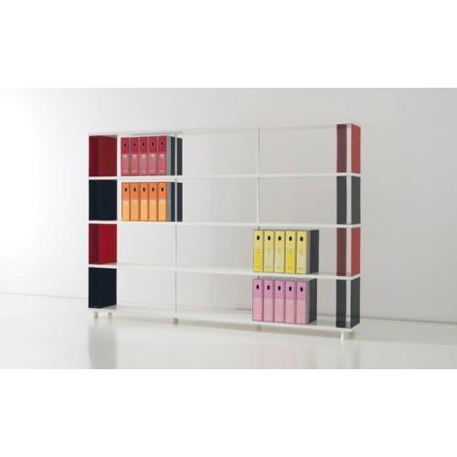 Libreria bifacciale p bc4 per ufficio in legno e metallo - Scaffali porta cd ...
