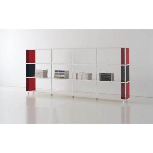 Scaffale dispensa P-CC3 a 3 ripiani in legno bianco 300x30x130 cm
