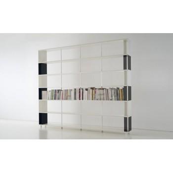 Libreria P-CC6 divisoria per ambienti in legno e metallo 300x30x250 cm