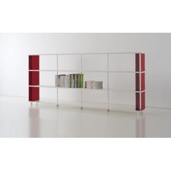 Scaffalatura in legno e metallo P-C3 per ufficio 300x30x130 cm