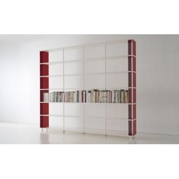 Libreria a parete moderna P-C6 per zona giorno ufficio 300x30x250 cm