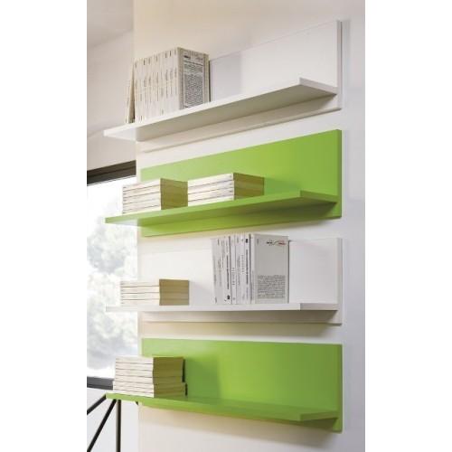 Mensola in legno da parete Tibor 90 Wenge' Bianco Arancio Verde