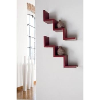 Mensola da parete Laddy a gradino in legno design moderno