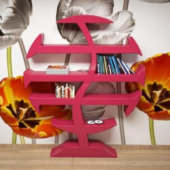 Libreria scaffale Stevenson ZAD Italy in Adamantx Magenta Arancio Verdino
