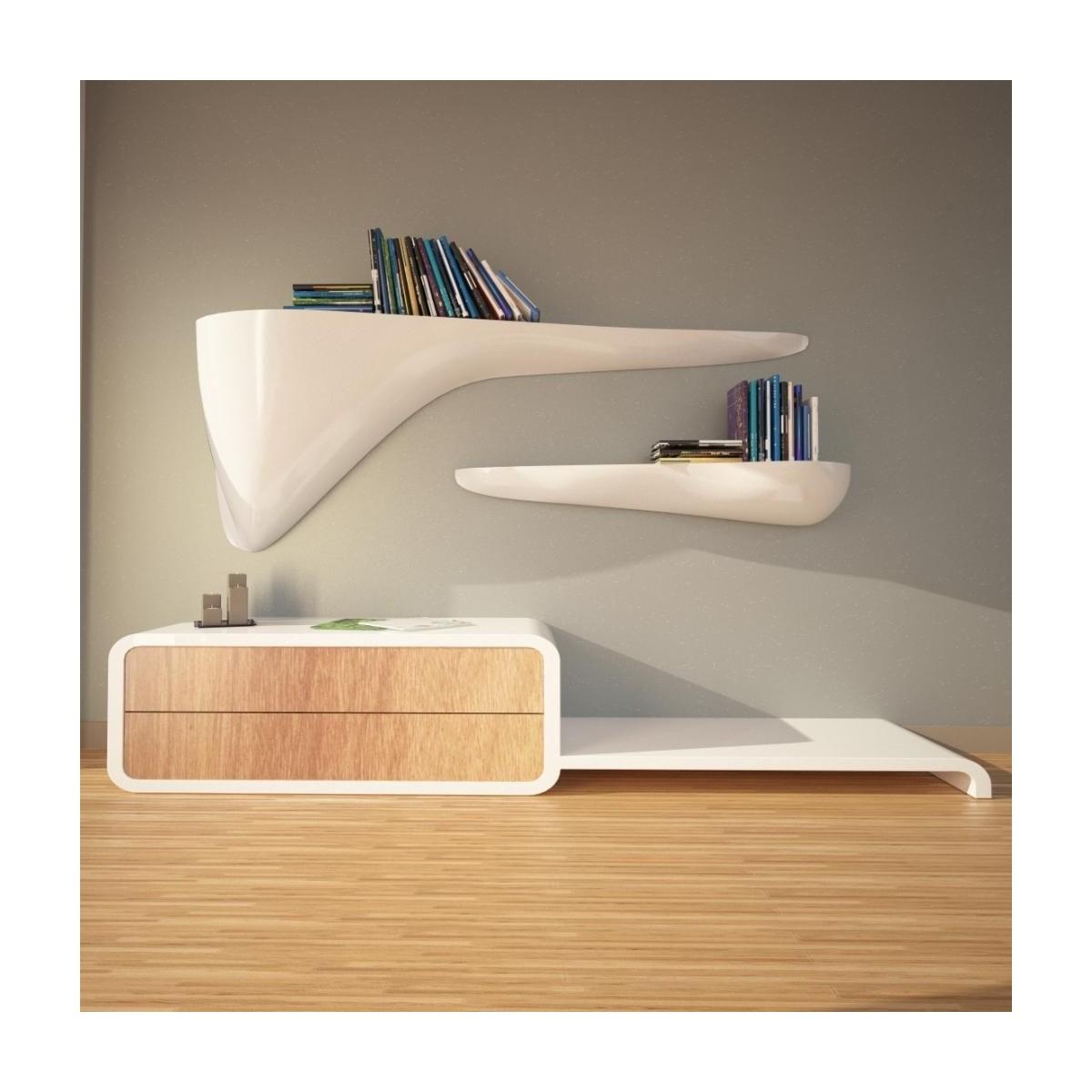 Popolare Mensole moderne design in legno metallo o vetro componibili e  DL58